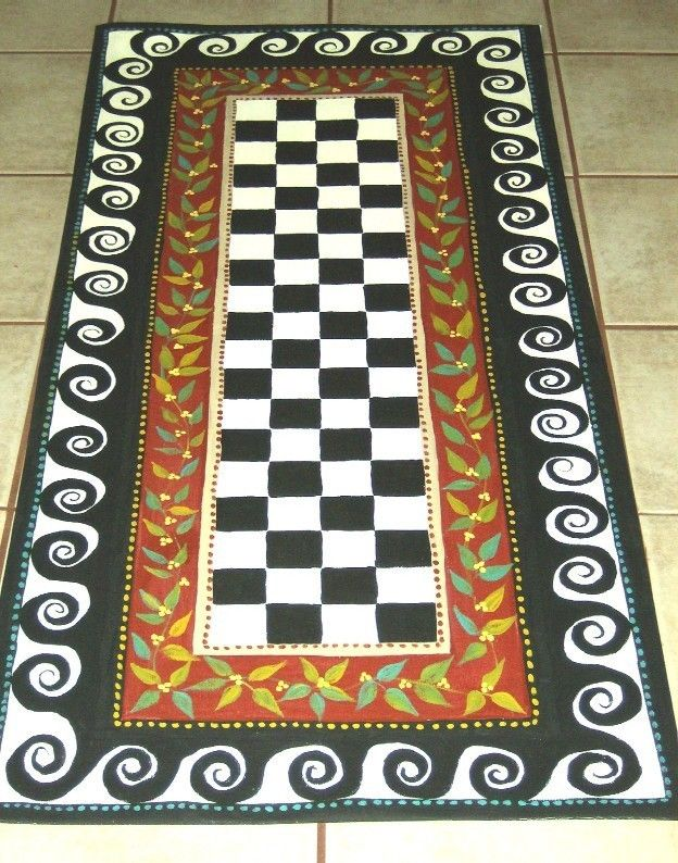 painted rug.........I have this and love it!