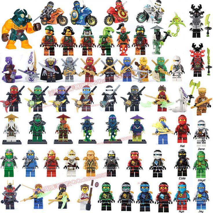 2017 HOT Compatible LegoINGlys NinjagoINGlys Sets NINJA Heroes Kai Jay Cole Zane Nya Lloyd With Weapons Action Toy Figure Blocks