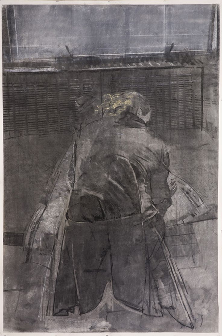 two coats, 72 x 48 in, charcoal,graphite and pastel on paper, 2012 http://www.sangrammajumdar.com/2012.html#