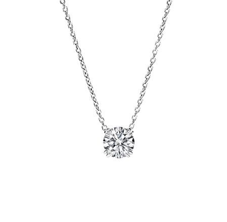 Simple Elegance // Round Brilliant Diamond Pendant Harry Winston