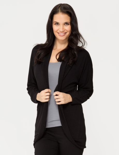 This long-sleeve shawl cardigan is great for layering over tops and dresses.