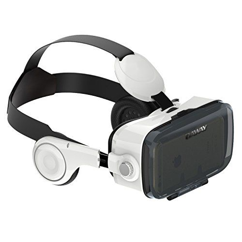 DAWAY 360VR Virtual Reality Box with Stereo Headset 3D VR Glasses FOV120 degree viewing angle Truly Immersive VR Helmet Halloween Gift
