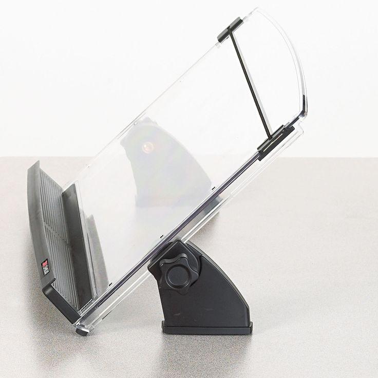 3M In-Line Adjustable Desktop Copyholder 150 Sheet Capacity /Clear