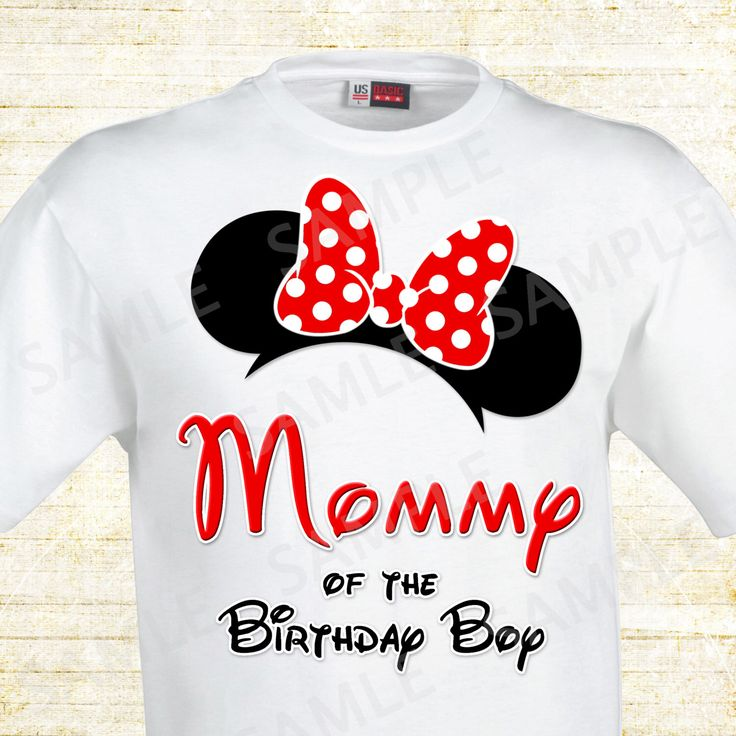 Mickey Mouse Mom Of The Birthday Boy