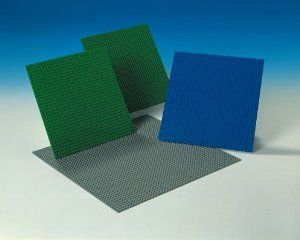 "LEGO® Building Plates by Lego Education. $37.39. Includes 1 gray 15"" x 15"" base plate, 2 green 10"" x 10"" base plates, and 1 blue 10"" x 10"" base plate.. May be used with either LEGO(R) or DUPLO(R) sized blocks.. 3 years and up.. 3 years & up. Every creation needs a foundation!  Each of these durable building plates forms a solid base for all LEGO(R) building bricks. Includes 1 gray 15"" x 15"" base plate, 2 green 10"" x 10"" base plates, and 1 blue 10"" x 10"" base plate. May ..."