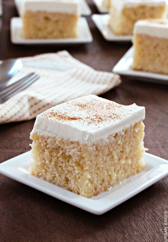 If you like sweetened condensed milk then you'll enjoy taking a bite into a Tres Leches Cake.  It's simple, easy and perhaps the moistest cake you'll ever have with a unique flavor you cannot find ...