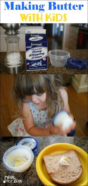 Just a few ingredients and some elbow grease are needed to make butter with kids. Find out how simple it is!