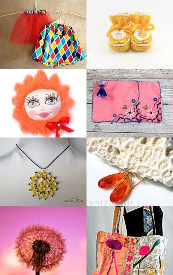 Pink or Orange by carole on Etsy--Pinned with TreasuryPin.com