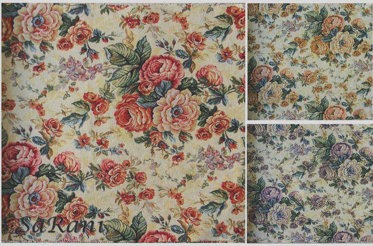 tessuto per tappezzeria Gobelin roseto largh. mt. 2,8 stoffa divano letto cucina