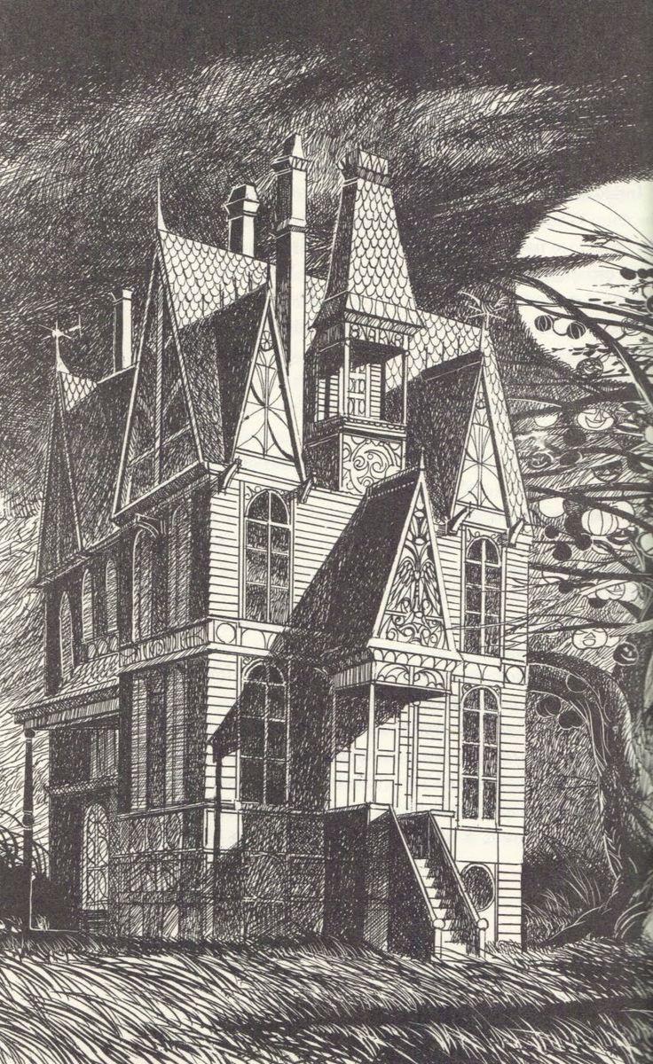 """The Halloween Tree"" illustrated by Joseph Mugnaini (Magnaini) (http://toomuchhorrorfiction.blogspot.com/2010/10/halloween-tree-by-ray-bradbury-1971.html)"