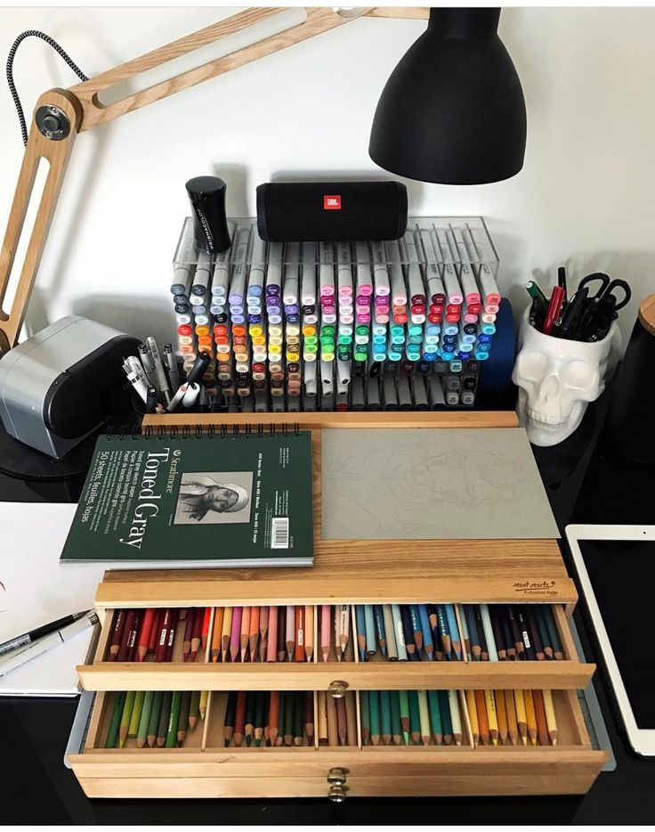 Time for a prismacolor drawing. (Oh, I wish!)