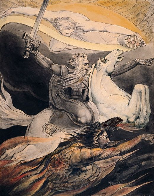 William Blake Death on a Pale Horse, c 1800