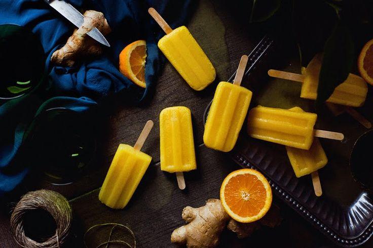 Веганский Нежданчик: Имбирно-апельсиновый лед