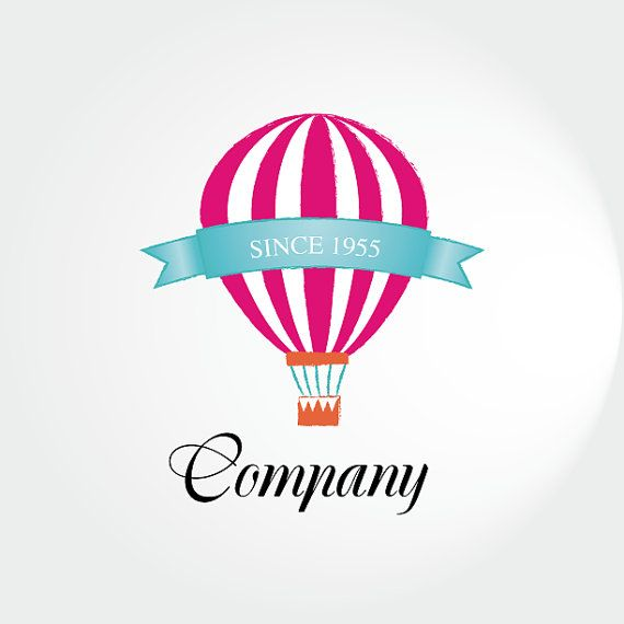 Hot Air Balloon Company Logo Design Available By