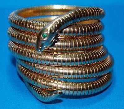 Vintage Victorian 14k Rolled Gold Snake Coil Wrap Bracelet