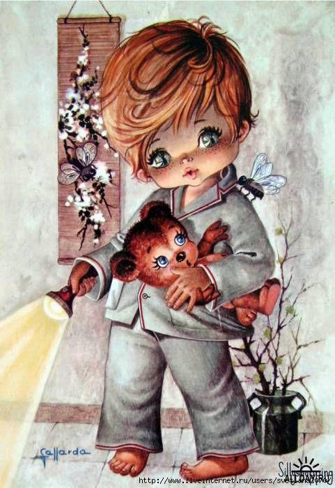 Прелестные детки - рисованные открытки с детьми. Обсуждение на LiveInternet - Российский Сервис Онлайн-Дневников