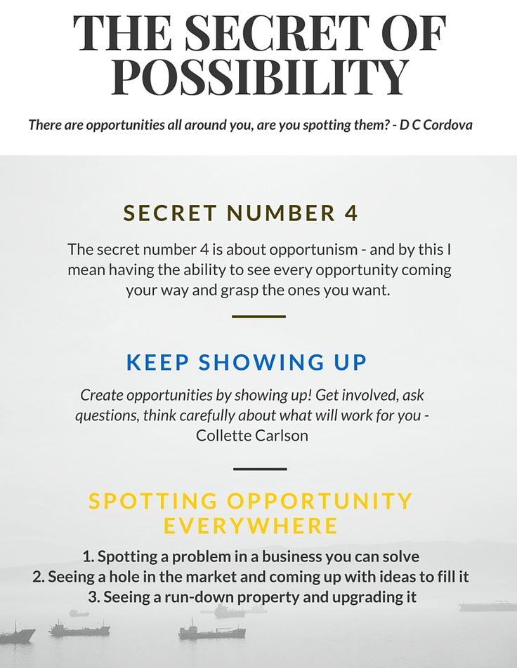 There are opportunities whizzing  past our noses everyday. Not everyone sees these opportunities. Opportunism is about two things - it's about having you mind ready and alert to spot the opportunities and being prepared to take advantage of them! Read more in Riches. #opportunity #Time #Hardwork #Spot #secret #success #wealth #problem #business #property #opportunism