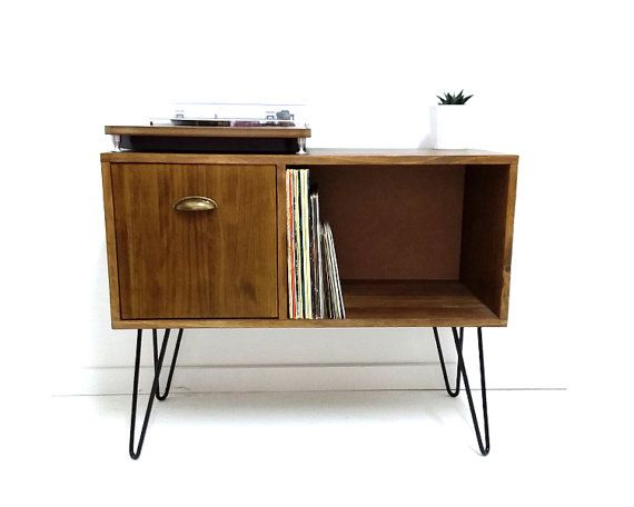Vinyl Record Storage, Konsolentisch, Mitte Jahrhundert moderner Tisch, Mitte Jahrhundert Schrank, Sideboard, Vinyl Lagerung, Couchtisch, Media-Konsole