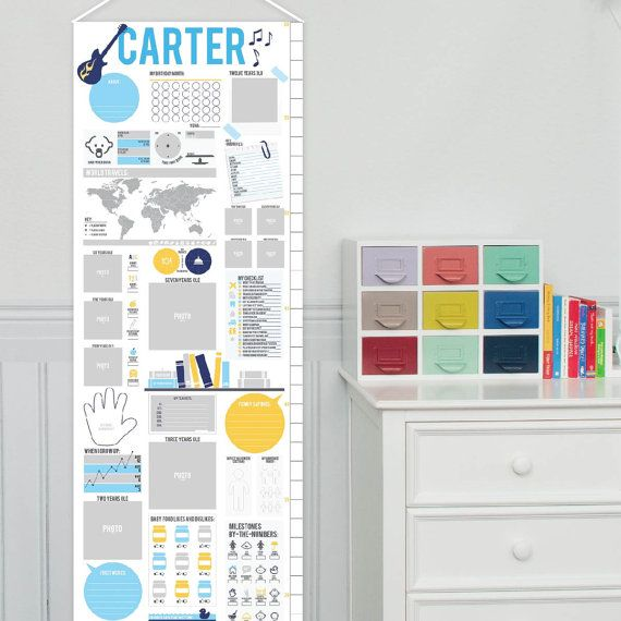 Rock+N+Roll+Baby+Growth+Chart+Canvas+Guitar+Nursery+by+PaperRamma
