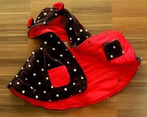 Selimut bayi baby cape warna hitam - merah