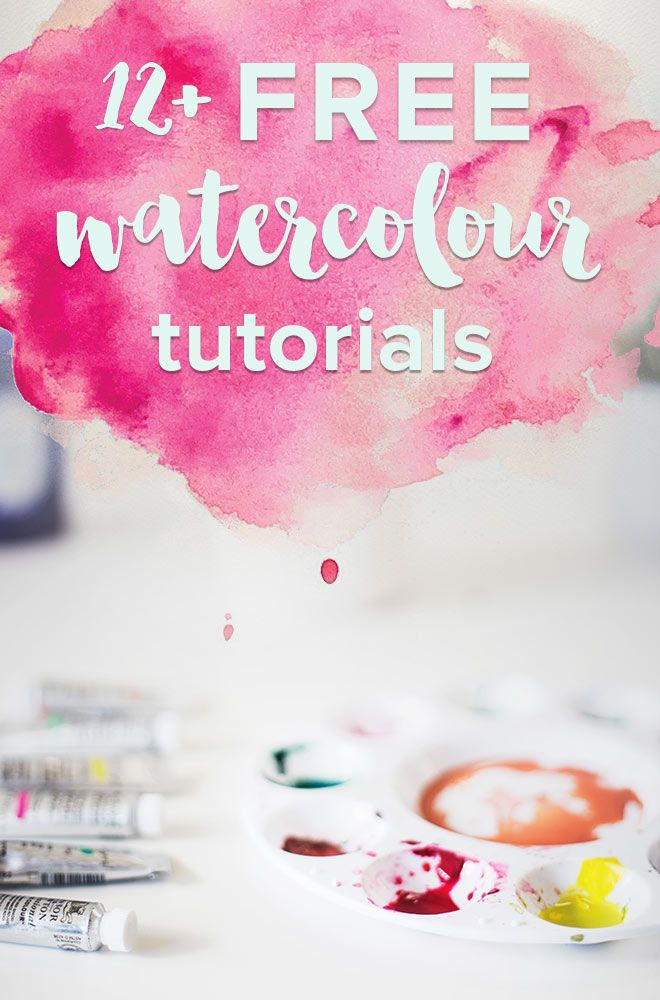 12+ free watercolour tutorials. Get started watercolouring today! Some of these watercolour tutorials are done using the computer while others are done with paint and brush in hand. Some that start with the basics and others are a bit more advanced, but still doable for beginners.
