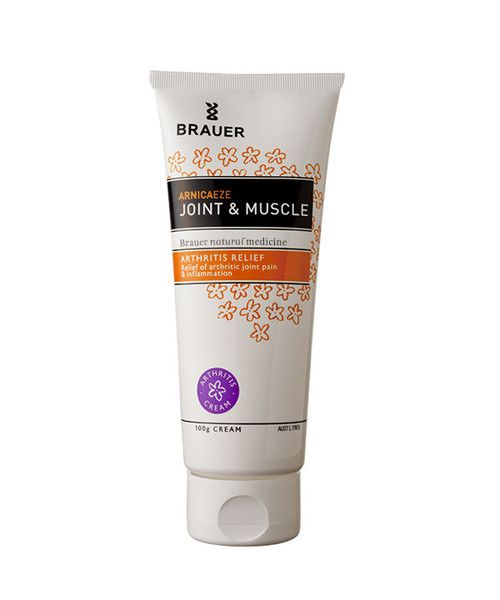 Brauer Arnicaeze Arnica Joint & Muscle Cream 100g- Arnicaeze Joint & Muscle Cream for arthritis contains active ingredients traditionally used in homeopathic medicine to help provide temporary relief from the pain of arthritis and rheumatism and to help reduce the joint inflammation associated with arthritis. These ingredients are also traditionally used to provide temporary relief from muscular aches and pains, from fibrositis pain and from the symptoms of low back pain.