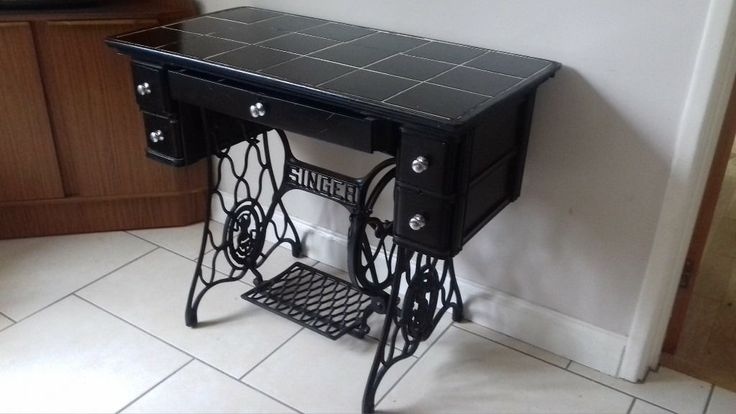 vintage retro singer sewing machine table (With images) Talo