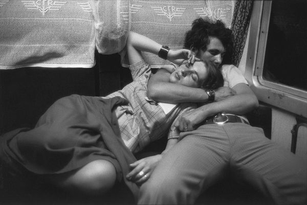 Henri Cartier-Bresson ROMANIA. In a train. 1975. This is my favorite photograph of all time I think. Its lovely.