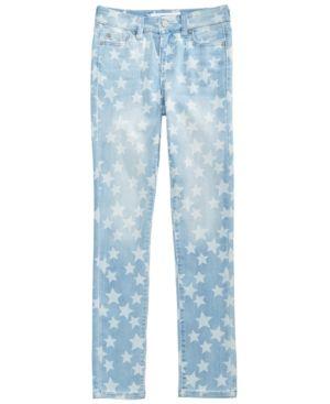 Celebrity Pink Star-Print Skinny Jeans, Big Girls (7-16) - Blue 12