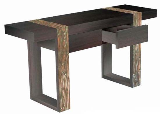 Modern Rustic Furniture environmentally friendly sustainable woods are used to create this