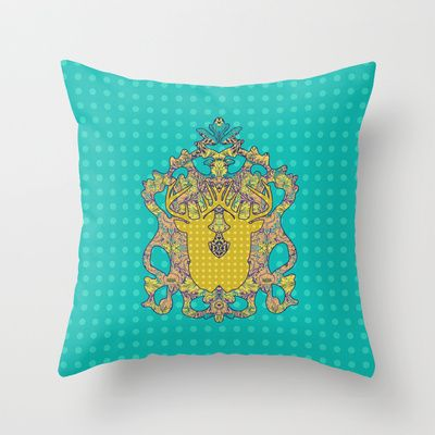 Blue Rose : In the blues Throw Pillow by Geetika Gulia - $20.00
