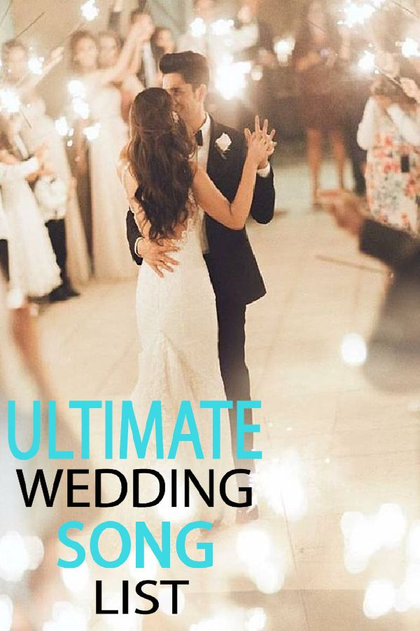 Love these songs!  From walking down the isle to the dance party!