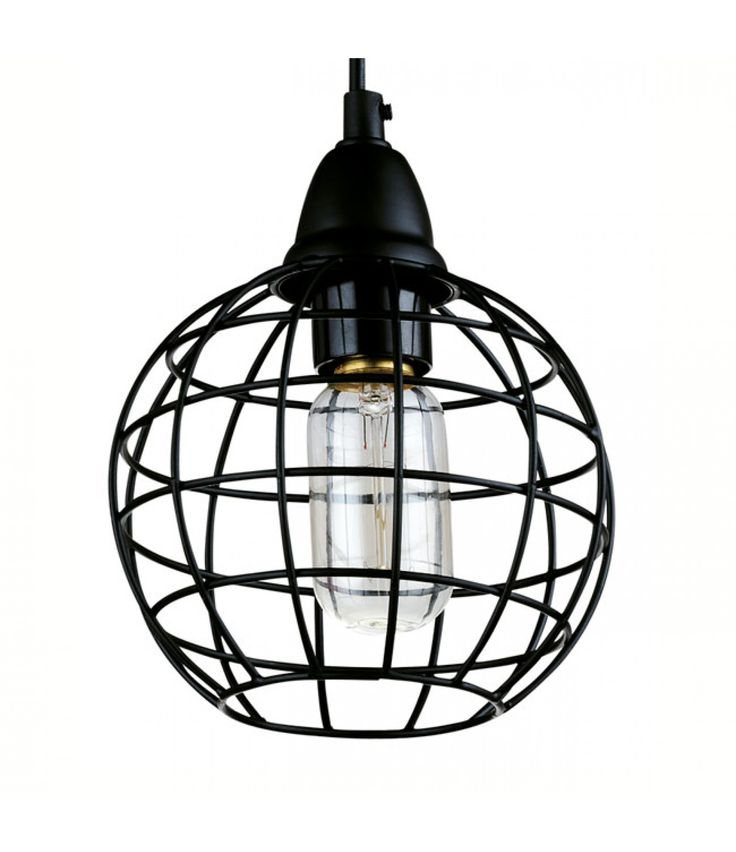 Lucretia Industrial Copper Wire Cage Pendant Lamp - D