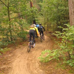 Mooiste mountainbiketocht van Nederland rij je in de bossen van Hoenderloo (Gelderland). Start: Landal Greenparks aan de Miggelenbergweg 65 in Hoenderloo. Afstanden: 30, 50 of 70 kilometer
