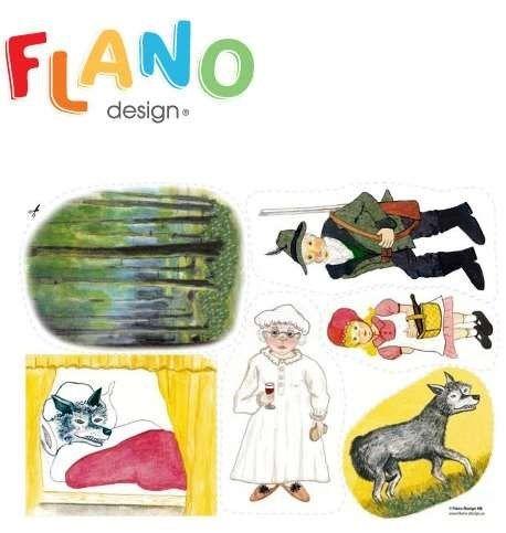 Rödluvan : flanosaga .....#bilderbok #flanosaga
