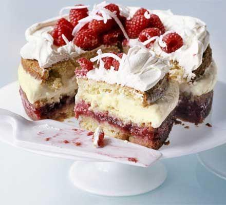 Raspberry & Coconut Trifle Cake