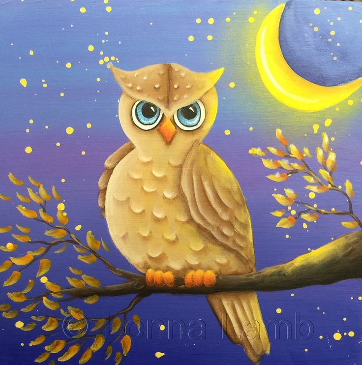 Night owl designed and painted by lonna lamb website is for Night owl paint color