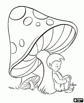 cartoon mushrooms coloring pages - photo#5