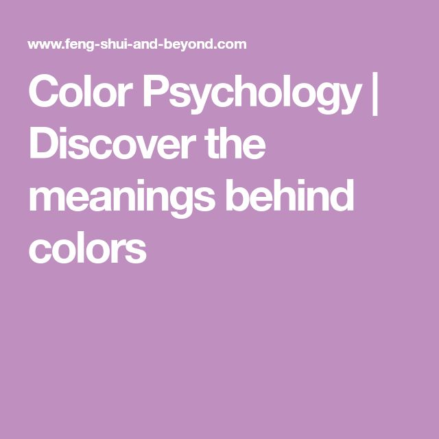 Color Psychology | Discover the meanings behind colors