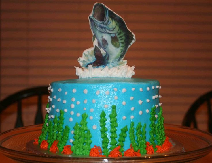fish theme cake cookie and cake decoration Pinterest