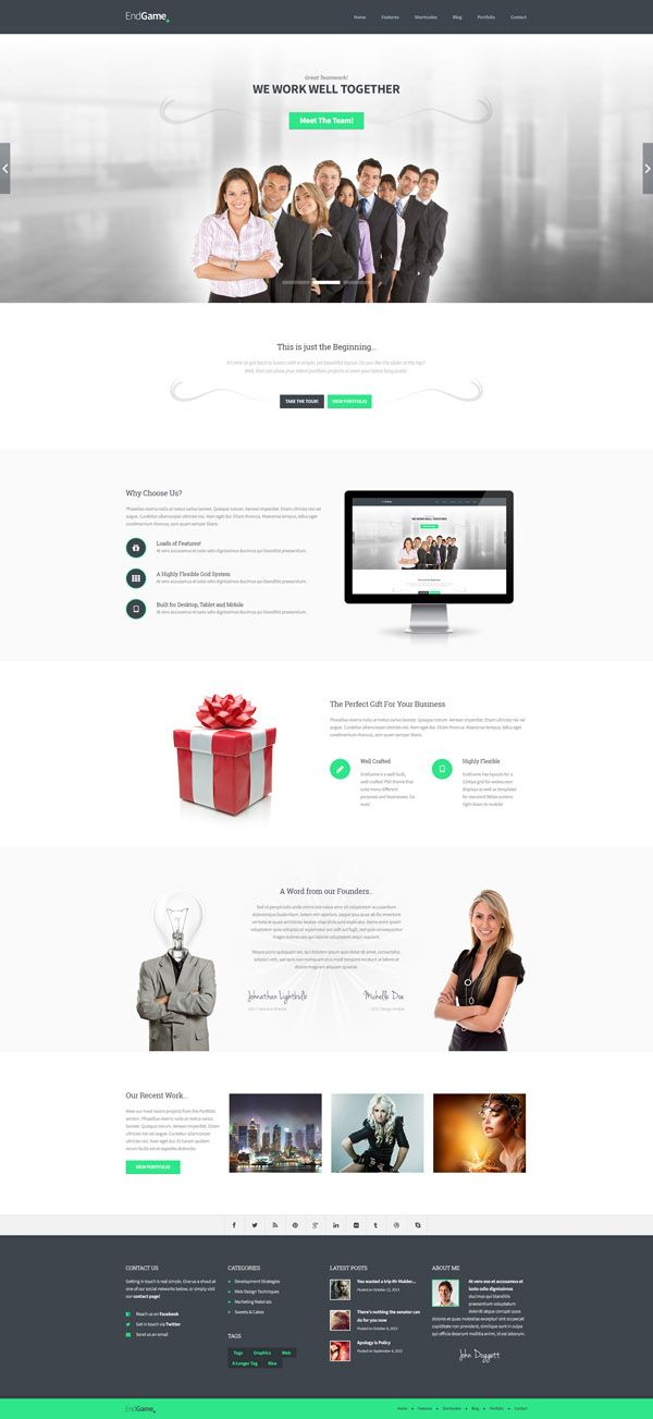 745 best PSD Templates images on Pinterest | Design websites ...