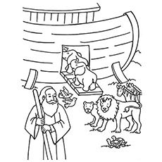 Top 10 'Noah And The Ark' Coloring Pages Your Toddler Will
