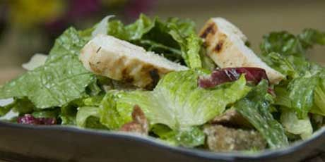 Eat Shrink & Be Merry - Hail Caesar salad recipe. Lower fat than your standard caesar salad. YUM