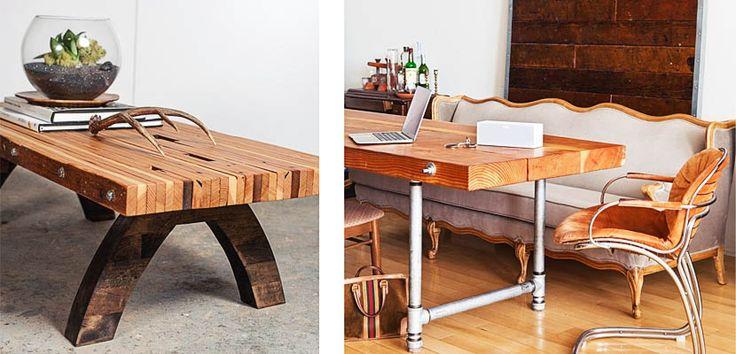 Crea tu propia mesa con tablones de madera diy te gusta - Crea tu propia casa ...