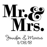 """Personalized printed mason jar mugs will bring a smile to your wedding guests' """"mugs"""" in no time!"""