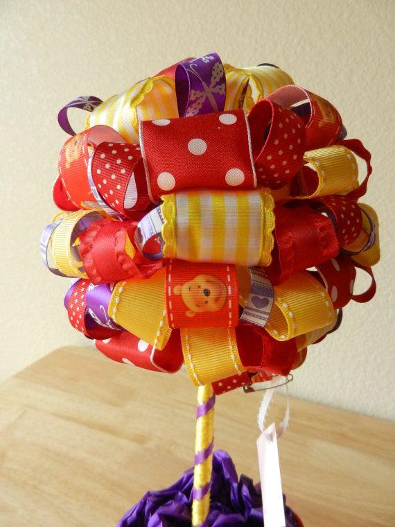 Winnie The Poo Ribbon Topiary Honey Bee by LadyBugzandLace on Etsy