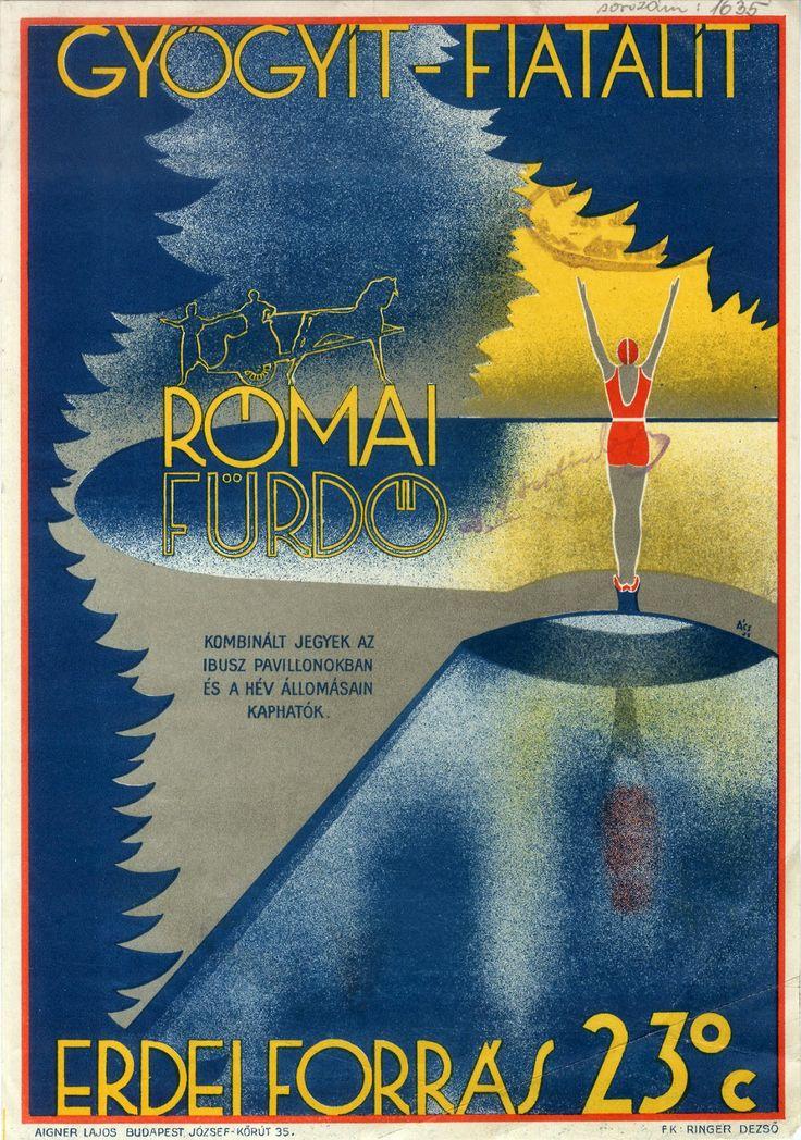 Római Fürdő - Budapest fürdői plakátsorozat