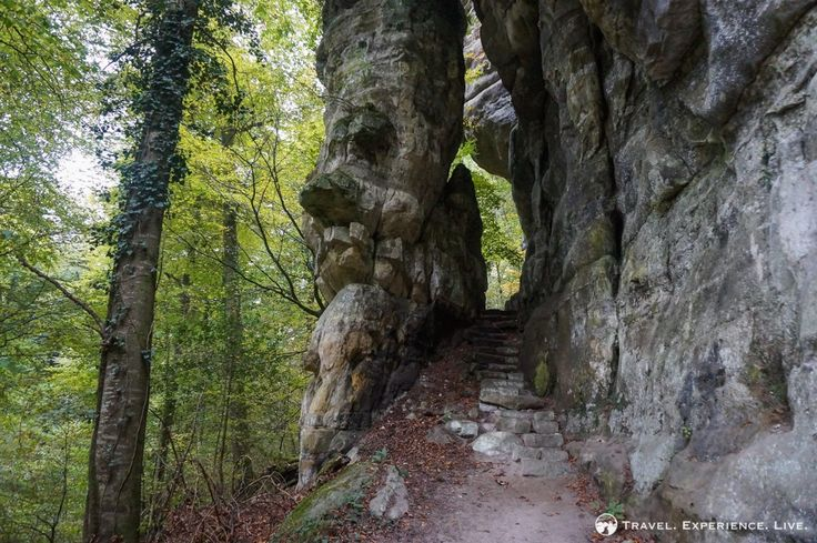 Rocky stairway on the Müllerthal Trail