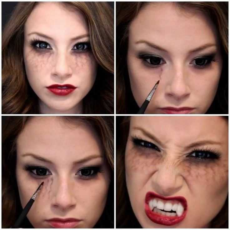 Halloween maquillage vampire pour femme - tuto pour maquillage des yeux