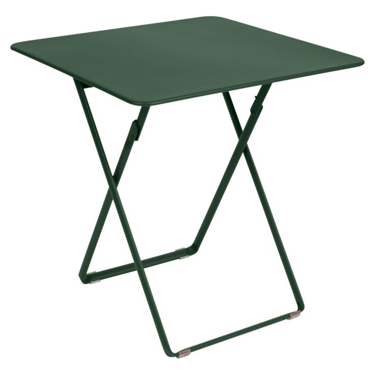 Plein Air square table, garden metal table